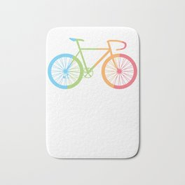 Bike Bicycle Cylist BMX Bikers Bicycling Cycling Exercise Workout Pedal Gift Bath Mat
