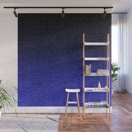 Blue & Black Glitter Gradient Wall Mural