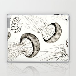 jelly fishes black and white Laptop & iPad Skin