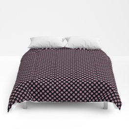 Black and Rosebud Polka Dots Comforters
