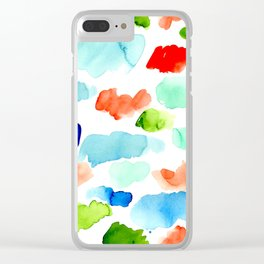 Watercolor Swatch Pattern Clear iPhone Case