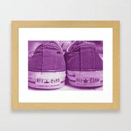 All Stars- Faded Pink Framed Art Print