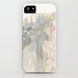 Bluebells and Hollyhocks girdle the earth iPhone Case