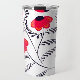 Beauty simple seamless floral pattern swirl Travel Mug