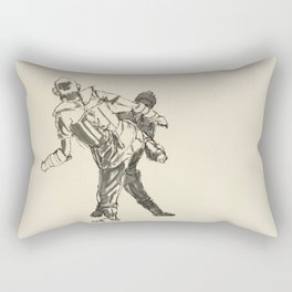 Tae Kwon Do Sparring Rectangular Pillow