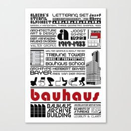 Bauhaus Type and Architecture Canvas Print