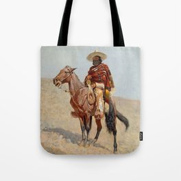 """Mexican Vaquero Horseman"" by Frederick Remington Tote Bag"