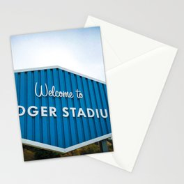 Welcome to Dodger Stadium | Los Angeles California Nostalgic Iconic Sign Art Print Tapestry Stationery Cards