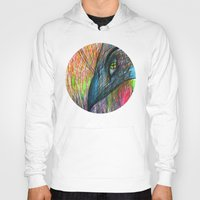 nordic Hoodies featuring NORDIC MAGIC - CROW by Lone Aabrink