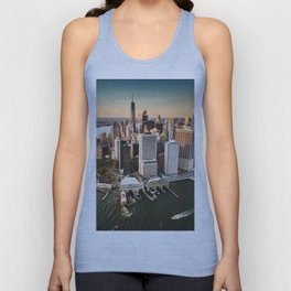 aerial view of manhattan Unisex Tank Top