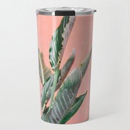 Palm on pink | Botanical photography print | Spain travel photo art Travel Mug