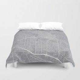 Boise Map, Idaho USA - Pewter Duvet Cover