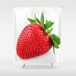 Strawberry on WhiteII Shower Curtain