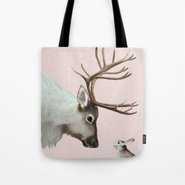 Reindeer and rabbit Tote Bag