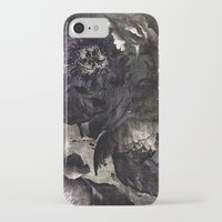 goth iPhone & iPod Cases featuring goth peony by inourgardentoo