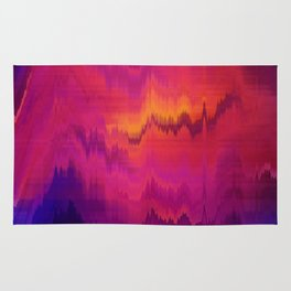 Pink Glitch abstract Rug