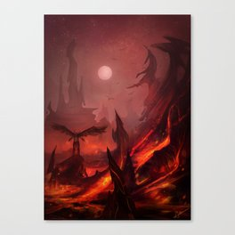 Fire & Brimestone Canvas Print