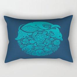 Aquatic Spectrum Rectangular Pillow