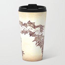 Caterpillar Brain Spit Ink Doodle Travel Mug