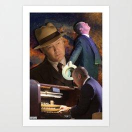 Raymond Reddington   Take me to church. Art Print