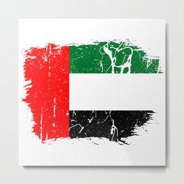 Distressed United Arab Emirates Flag Graffiti Metal Print