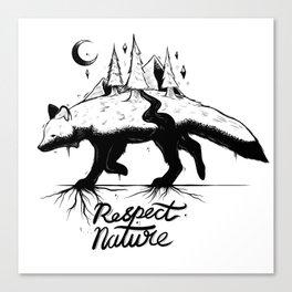 Respect Nature. Canvas Print