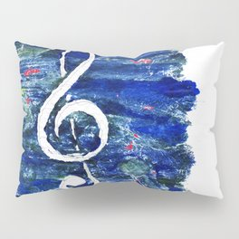 G clef or the sun key Pillow Sham