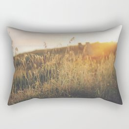 Golden - Beach vegetation at sunset - Botanic, nature and golden light Rectangular Pillow