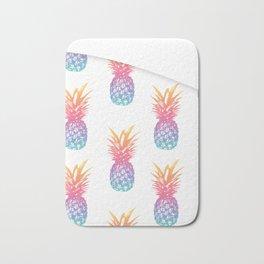 Colorful Pineapple Pattern Bath Mat