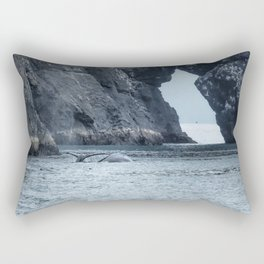 Two Humpback Whales in Resurrection Bay Rectangular Pillow