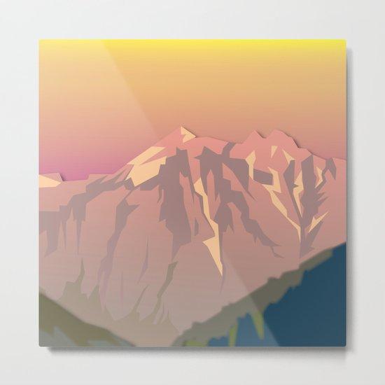 Night Mountains No. 47 Metal Print