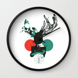 Girl with Horns Wall Clock
