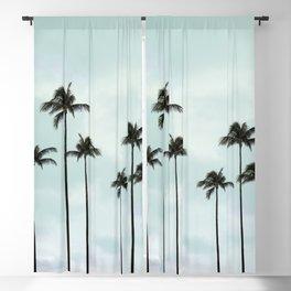 Palm Tree | Landscape Photography | Sunset Clouds | Blue Sky | Minimalism Blackout Curtain