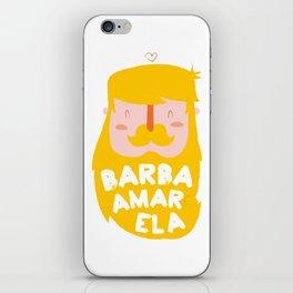 Barba Amarela iPhone Skin