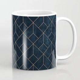 Gold Art deco on Navy ink Coffee Mug