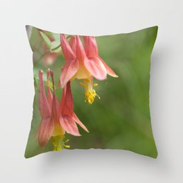Wild Columbine Throw Pillow