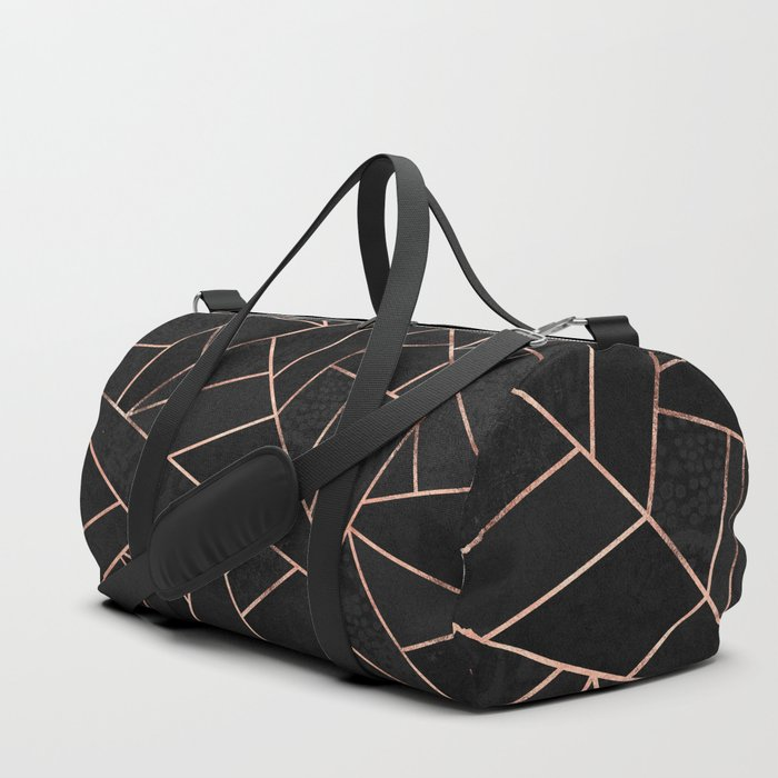 Velvet Black Rose Gold Duffle Bag