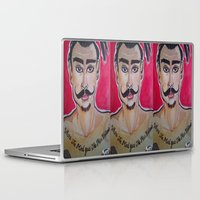 greg guillemin Laptop & iPad Skins featuring MOUSTACHED MODEL (GREG)  by Punkboy Marti