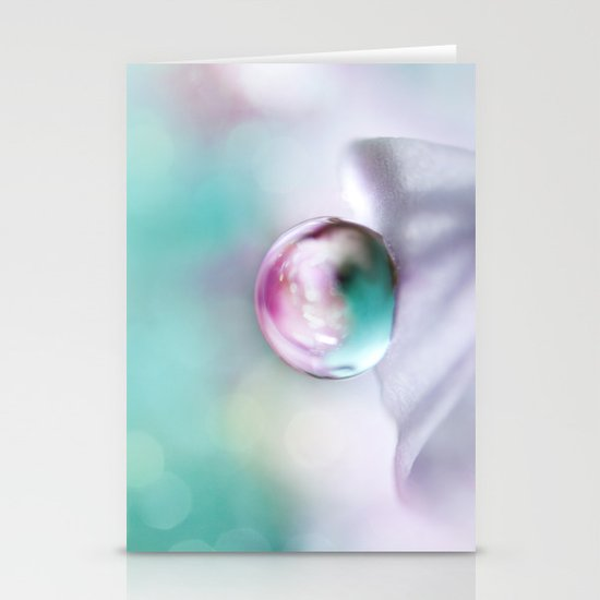 Turquoise Droplet Stationery Cards