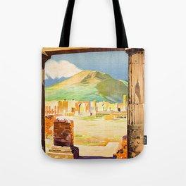 Vintage Pompei Italy Travel Tote Bag