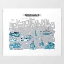 Boston Art Print