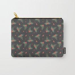 Christmas Mistletoe On Black Decor Carry-All Pouch
