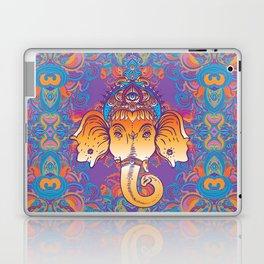 Hindu Lord Ganesha over ornate colorful mandala.  Laptop & iPad Skin