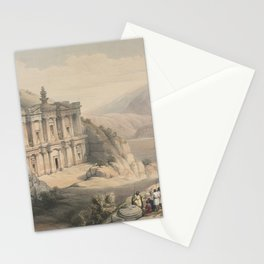 Vintage Print - The Holy Land, Vol 3 (1843) - El Deir Petra Stationery Cards