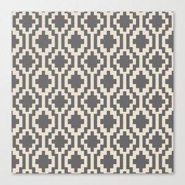 Mapuche Natural Black Canvas Print
