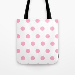 Pink Polka Dot Design Tote Bag