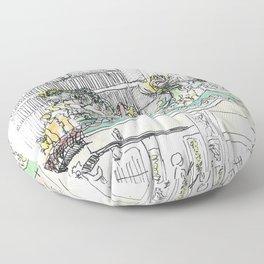 sketch_temple Floor Pillow