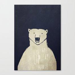 Polar Bear - Stars Up Above Canvas Print