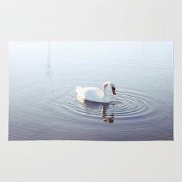 the beautiful swan Rug
