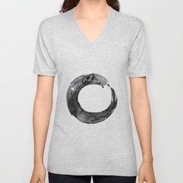 Enso Serenity No.12D by Kathy Morton Stanion Unisex V-Neck
